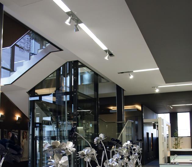 Iluminacion Showroom Systempool Porcelanosa