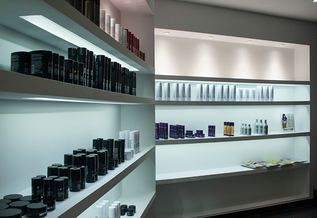 Proyecto de iluminaci n de la peluquer a essensuals london en valencia - Iluminacion en valencia ...