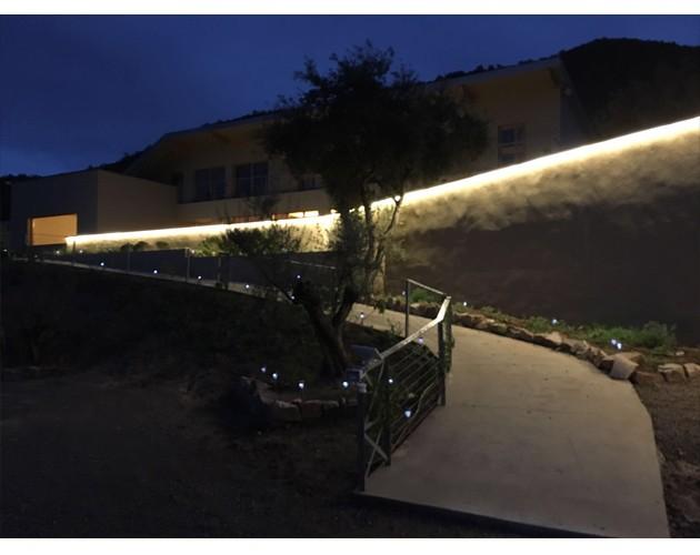 iluminacion exterior hotel