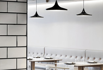 Proyecto de iluminación del restaurante Gran Azul, en Valencia.